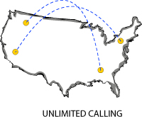 unlimited calling - World Access Communications - 800 call forwarding & 800 international forwarding